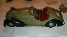VINTAGE TIN US /GERMANY ZONE DISTLER   WIND-UP SPORTS CAR