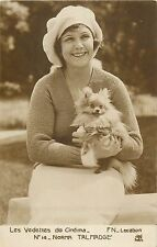 Les Vedettes de Cinema actress NORMA TALMADGE & puppy dog chien