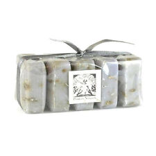 3 Pre De Provence LAVENDER French Guest Soap Set Shea Butter+FREE RIBBON Gift