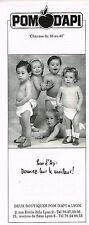 PUBLICITE ADVERTISING 045  1991   POM D'API  chaussures enfants