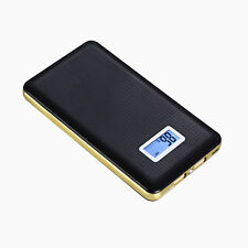 50000mah Portable Power Bank 2 USB LED LCD Battery Charger For Samsung S7 Black