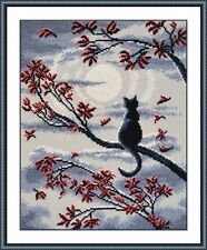 "Counted Cross Stitch Kit OVEN - ""Moon Cat"""