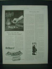 1925 Oh Henry Candy Bar Most Delicious Vintage Print Ad 11890
