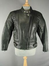 CLASSIC AKITO MERCURY PLUS BLACK LEATHER BIKER JACKET SIZE 12
