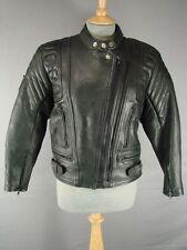Clásico Akito Mercury Plus negro cuero Biker Jacket Talla 12
