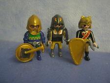 3 x verschiedene Ritter Figuren  Waffen zu 6000 Ritterburg Playmobil A 78