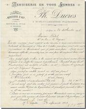 Facture - Ph - DUCROS Menuiserie en tous Genres à St-Eloy-les-Mines 1908