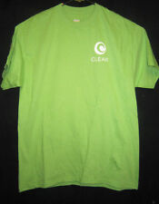 Clear Wireless Internet lime green t shirt large 42-44