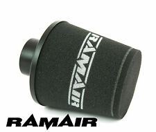 BLACK RAMAIR ALUMINIUM INDUCTION AIR FILTER UNIVERSAL 80mm OD NECK NEW