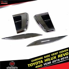 CHROME SIDE VENT COVER TRIM 4 DOORS FOR TOYOTA HILUX REVO M80 PICKUP 2015-2016