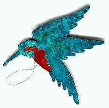 COPPERCUTTS Hummingbird Ornament SouthWest Copper with Choice of Primary Color!