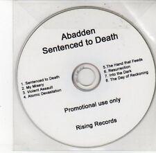 (DD435) Abadden, Sentenced to Death - DJ CD