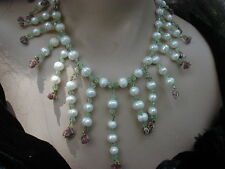 Handmade Natural Pearls & Ruby Gemstone Necklace Set
