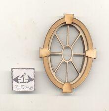 Window -  Keystone Oval - 2131 wood dollhouse miniature 1:12 scale USA made