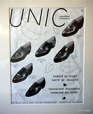Original Vintage Mounted Unic Chaussures D'Hommes  Men's Shoes 1933