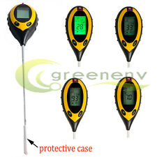4-in1 PROFESSIONAL LCD TEMPERATURE MOISTURE SUNLIGHT PH GARDEN SOIL TESTER METER