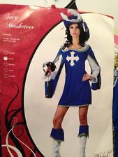 SEXY MUSKETEER  DRESS UP HALLOWEEN COSTUME X SMALL TO CLEAR 1 ONLY