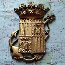 Old Spanish Navy Metal Plaque Tampion Crest :  Spanish Frigate Baleares (F71)