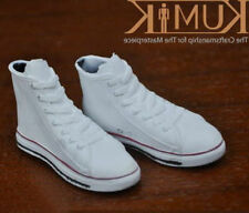 "Kumik 1/6 Scale Sneakers White Sports Shoes For 12"" Action Fgiure Unisex S-24"
