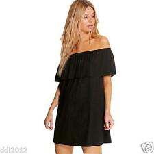 Sexy Women Flounced Collar Off Shoulder Casual Evening Cocktail Party Mini Dress