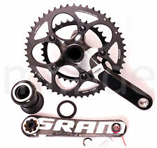 Sram Force 2x10speed PF30 Compact Carbon Road Crank Set/50-34T/170MM/625g/Black