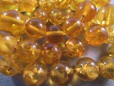 Imitation Resin Amber Round 15mm Beads 10pcs