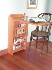 Fold out end table,desk & Magazine Rack,(cherry) for RV trailer pull up leaf