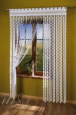 String Curtain White Greek Key Window Door Fringe Blind Panel Fly Screen Tassels