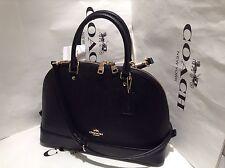 NWT. Coach Crossgrain Leather Sierra Domed Satchel Crossbody Handbag F57524