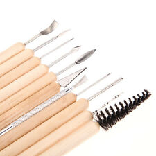 11PC/Set Clay Sculpting Wax Carving Pottery Tools Shapers Polymer Modeling