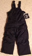 Snow Suit New Size 3T Vertical 9 Bibs Pants Overalls Unisex Black Winter Toddler