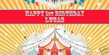 """Custom Personalized Full Color 18""""x36"""" Circus Carnival Birthday Party Banner"""