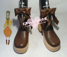 Rozen Maiden Kanaria Brown Halloween Girls Cosplay Shoes Boots H016