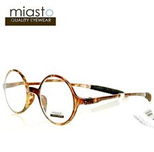 TR90 MIASTO FLEXIBLE MEMORY READER READING GLASSES+2.50 LENNON ROUND TORTOISE