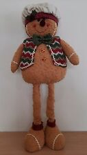 75cm Telescopic Ginger Bread Man Christmas Decoration Soft Plush 48 - 75cm High