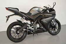Yamaha YZF-R125 14-16 SP Engineering Satin Black Moto GP Stubby Exhaust System