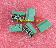 20pcs KF301-3P 3 Pin Plug-in Screw Terminal Block Connector 5.08mm Pitch