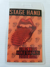 ROLLING STONES Laminated STAGE HAND Backstage Tour Pass - VOODOO LOUNGE 94/95