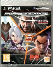 "Fighting Edition (Tekken Tag tournamament 2/Soul Calibur V/TEKKEN 6) ""NUOVO"" * PS 3 *"