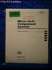Sony Bedienungsanleitung CMT CQ1 Component System (#2269)