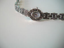 Vintage Look  Bracelet Marcasite Antique Lady Special Occasion Watch