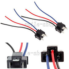 2 H4 9003 Headlight Bulb Male Pigtail Wire Harness Connector Plug Socket adapter