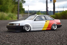 PANDORA 1/10 RC TOYOTA COROLLA LEVIN AE86 2Dr 195mm Clear Body Drift Hashiriya