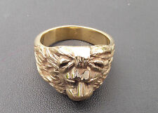 Men's Highly Polished Lion Head Jewellers Bronze Ring 15 grams Any Size Stunning