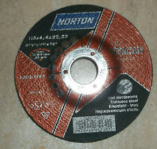 Norton Vulcan Metal Grinding Disk Inox 115 x 6.4 x 22.23mm Stainless Steel