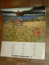 Calendrier Tracteur MASSEY FERGUSSON 1970 Tractor Traktor calendar poster