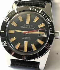 Rare Vintage 60s DUBEY & SCHALDENBRAND Skin Diver Mens Automatic Watch! 36.5mm!