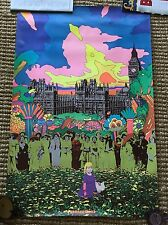 """Generations"" RARE ORIGINAL CARSON-MORRIS 60's HEADSHOP PSYCHEDELIC POSTER / ART"