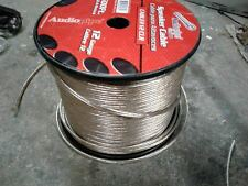 100FT AUDIOPIPE 12 GA GAUGE CLEAR HIGH QUALITY STRANDED HOME CAR SPEAKER WIRE