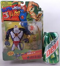 EARTHWORM JIM BOB #4 ACTION FIGURE VIDEO GAME CARTOON MONSTER EVIL DOG FISH MOC